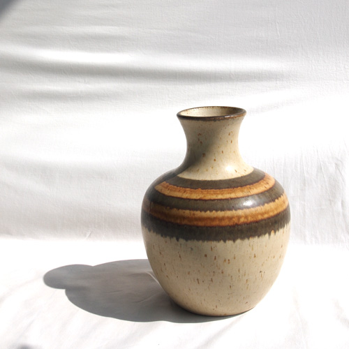 Ceramic brown-toned vase