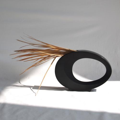 Black sculptural object