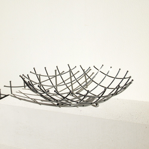 Sculptural wire basket