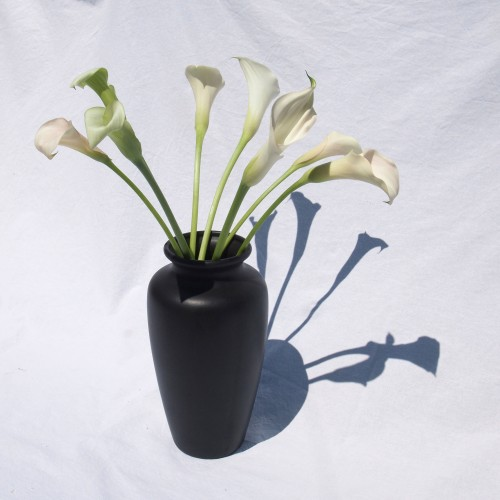 Dark brown vase