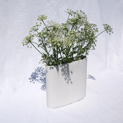 Simple white vase