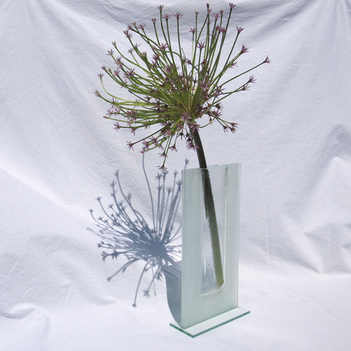 Frosted glass vase II