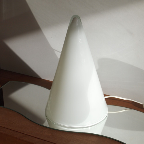 Cone glass lamp