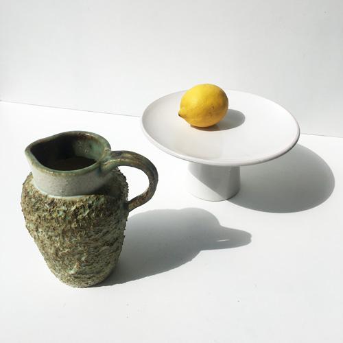 Granulated glazed jug