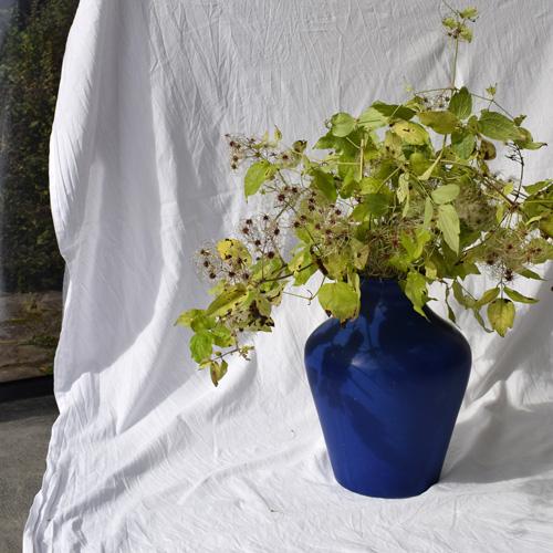 Klein blue vase