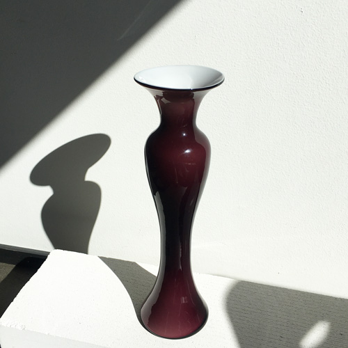 Dark purple glass vase