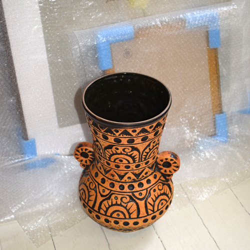 Figurative floor vase