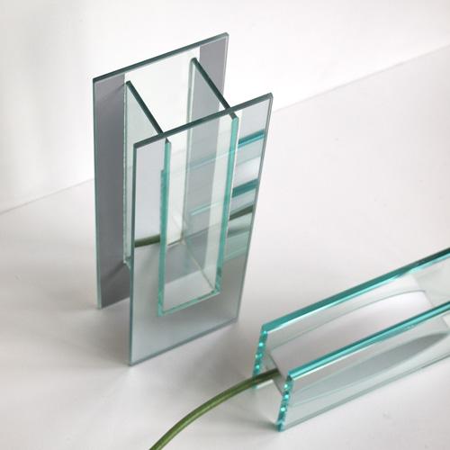Glasvase med spejleffekt